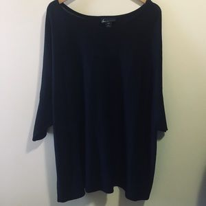 NWT Lane Bryant Black Shimmer Metallic Dolman Top